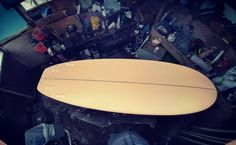 """@tmssurfboards HP #minisimmons #ish 5'6 1/2"""" 19"""" 2 1/2"""" cadmium orange ミニシモンズのテンプレートをショートボードのブランクスに入れ込みました I put the Mini Simmons template in the blanks on the shortboard 📷: @tmssurfboards Thank you for letting us repost this amazing photo of your board. 🤙 #minisimmonssurfboard #stoke #shapers #surfboardshaping #surfingislife #repost"""