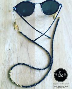 Anteojos Leather Jewelry, Beaded Jewelry, Diy Fashion Accessories, Fashion Eye Glasses, Modelista, Glass Necklace, Eyeglasses, Chain, Crochet