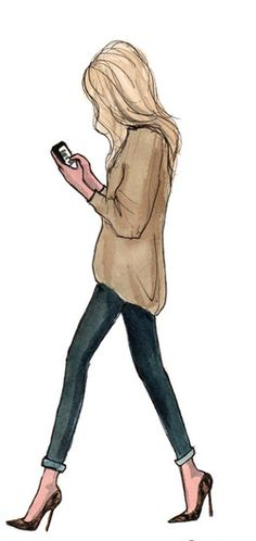 Illustration by Inslee Haynes. Fashion Sketches, Art Sketches, Art Drawings, Fashion Illustrations, Arte Fashion, Fashion Design, Megan Hess, Girly, Illustration Mode