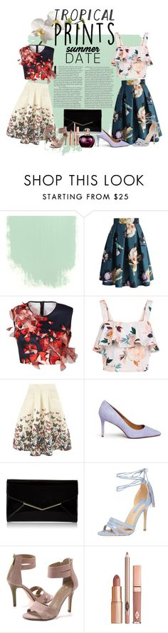 """""""summer date"""" by ruth-clara-manurung on Polyvore featuring Chicwish, Clover Canyon, New Look, Jolie Moi, Tory Burch, Furla, Dorothy Perkins, Lands' End, Dolce Vita and tropicalprints"""