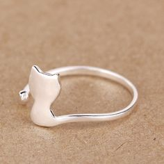 Wonderful gift for friendship Material:925 Sterling Silver Ring size:US 5 sizable Cute Small Ring