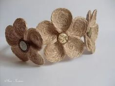 Цветы из джутового шпагата мастер класс.