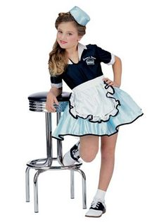 Car Hop Girl Kids Costume | Wholesale 50's Halloween Costume for Girls