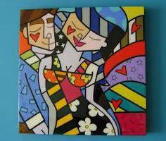 cuadros pintados con acrilicos sobre lienzo - Buscar con Google