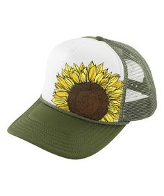 Love this Olive Surf Soul Trucker Hat on  zulily!  zulilyfinds Girasoles 657e2f1b3fb