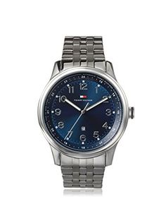 Tommy Hilfiger Men's 1710308 Silver/Blue Stainless Steel Watch
