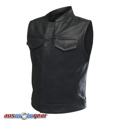 This Sons of Anarchy Style Leather Vest is made up of Premium Quality Heavy duty but SOFT Cowhide Leather.