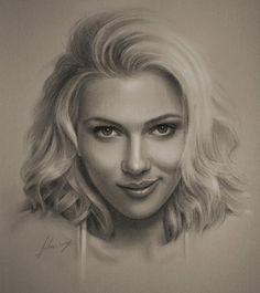 Scarlett Johansson - this man knows his way 'round a pencil