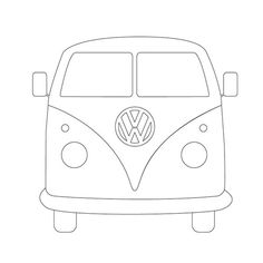 i had an idea for an illustration based on the iconic image of a vw camper van i wanted the image to have the look of a stencil and use negative space