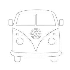 vw campervan drawing