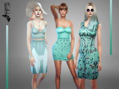 MFS Classy Blue Collection by MissFortune at TSR via Sims 4 Updates