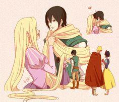 Sai & Ino (Tangled) Naruto & Hinata (Snow white)