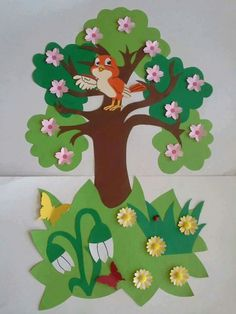 New arrival Crystal Acrylic wall stickers for kids room Tree bird DIY Art wall decor sticker Sofa wall home decoration Art Drawings For Kids, Art For Kids, Crafts For Kids, Safari Decorations, School Decorations, Foam Crafts, Paper Crafts, Kindergarten Classroom Decor, Creative Arts And Crafts