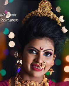 Marathi Nath, Marathi Wedding, Crown, Lips, Jewelry, Fashion, Moda, Corona, Jewlery