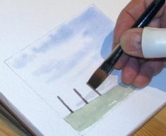 How to Paint a Simple Landscape - Introduction to Watercolour Painting Part 6 Watercolor Landscape Tutorial, Watercolor Ocean, Watercolor Tips, Watercolour Tutorials, Watercolor Techniques, Simple Watercolor, Watercolour Paintings, Painting Tutorials, Painting Lessons