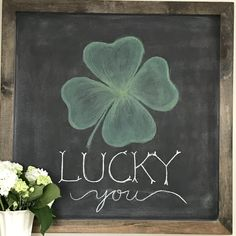 St. Patrick's Day chalkboard art Chalkboard Stencils, Chalkboard Doodles, Blackboard Art, Chalkboard Drawings, Chalkboard Print, Chalkboard Designs, Chalkboard Ideas, Chalkboard Quotes, Chalk Writing