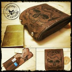 Small tattooed tabacco pouch #tattoedleather  #tabacco #leather #tattoo #pouch