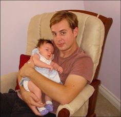 Sean Murray with his baby