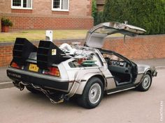 One of my favorite cars - the DeLorean from the Back To The Future trilogy.  very cool car!! http://1cupawesome.com/wp-content/uploads/2011/03/back-to-the-future.jpg