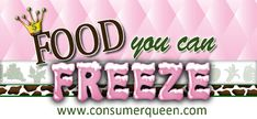 Check out this BIG list of Foods You Can Freeze – Save Time & Money!