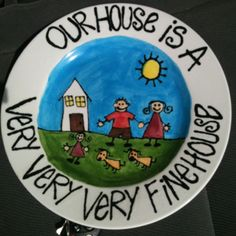 Plate I painted at local pottery funland!