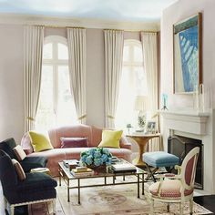 My favorite trend in decorating is never to have to redecorate.. Like a good cocktail, refresh only.. #verandamagazine,#davidhockney