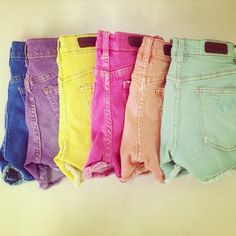 #shorts #colors #m2fdenim #summer #orange #blue #mint