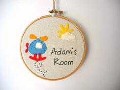 Boys personalized room signBoys name signCustom by pitsispopis, $28.00