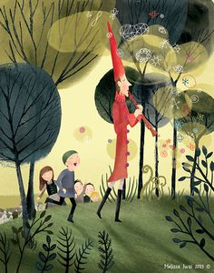 Fairy Tales Exhibit at the Brooklyn Central Library: The Pied Piper : Melissa Iwai