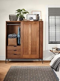 Linear Anywhere Armoires. Our modern Anywhere Armoires offer functional and attractive storage for entryways, bedrooms, dining rooms and living spaces