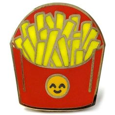 PINTRILL 'Fries' Fashion Accessory Pin ($12) ❤ liked on Polyvore featuring jewelry, brooches, accessories, pins, yellow red, yellow jewelry, red brooch, pin brooch, red jewelry and pin jewelry