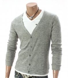 Good simple grey mens cardigan stock up on cardigans they come in handy