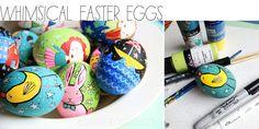 Whimsical painted eggs by mixed media artist Alisa Burke.