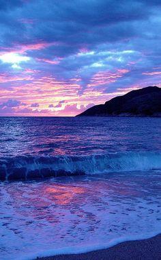✯ Beautiful sunset in Perendim, Albania