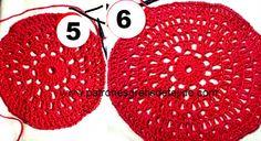 Como tejer una capa al crochet con base redonda y cuello tortuga paso a paso en fotos y explicación en español