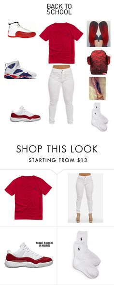 """back to school"" by aleisharodriguez ❤ liked on Polyvore featuring Ralph Lauren and Sprayground"