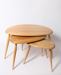 ERCOL : NEST TABLE #furniture_design