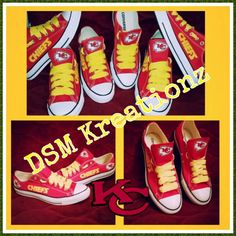 482fd0f68f71d7 Custom KANSAS CITY CHIEFS Low Top Converse by DSMKreationzZ on Etsy