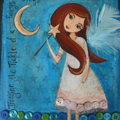 Fairy Art For Children Kids Room Decor Girls Room by HRushtonArt, $18.00