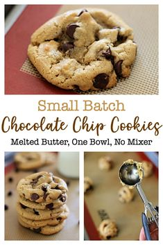 My family loves these one-bowl Small Batch Chocolate Chip Cookies! With this easy chocolate chip cookie recipe there's no need to get out the mixer, soften the butter, or chill the dough. via cookies small batch Small Batch Chocolate Chip Cookies Easy Chocolate Chip Cookies, Chocolate Cookie Recipes, Choco Chip Cookie Recipe, Chocolate Chocolate, Healthy Chocolate, Small Cookie Dough Recipe, Small Batch Of Cookies, Small Batch Cookie Recipe, Quick Cookies