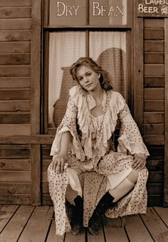 While Diane Lane was not new to Westerns when she was cast as Lorena Wood in 1989's groundbreaking television mini-series Lonesome Dove, her role permanently defined her as one of the greatest and most beloved heroines of Western film and television.– Courtesy Witliff Collections/Motown and CBS –