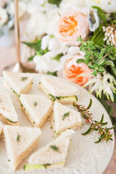 A boudoir themed bridal shower. Bridesmaids sipping champagne, taking styled boudoir pictures and having a bridesmaids brunch. Finger Sandwiches, Cucumber Sandwiches, Tea Sandwiches, Bridal Shower Sandwiches, Tapas, High Tea Wedding, Afternoon Tea Parties, Food Presentation, Tea Time