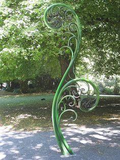 Fern Sculpture, Christchurch, New Zealand