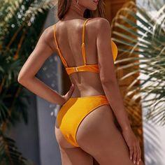 This summer sunset bikini set simply sexy. It's a two piece bikini set with push-up padding comfort and support. Sexy Bikini, Bikini Set, Thong Bikini, Two Piece Bikini, Two Piece Swimsuits, Sunset Bikini, Bikini Types, Bra Types, Summer Sunset
