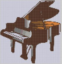 (10) Name: 'Embroidery : Piano Cross Stitch Pattern