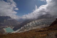Samdo himal m.m) and glacier lake Birendra Tal Glacier Lake, Mount Everest, Mountains, Nature, Travel, Naturaleza, Viajes, Traveling, Natural