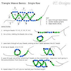 PZ Designs - Handmade Jewelry: Tutorial: The Triangle Weave