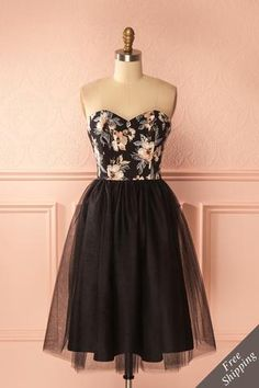 Alessandria Moonlight Black Tulle Bustier Dress | Boutique 1861