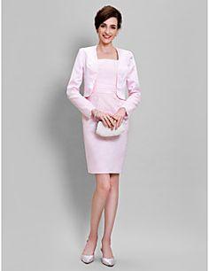 30c6a76df4f Lanting Bride® Pouzdrové Šaty pro matku nevěsty Ke kolenům Dlouhý rukáv  Krajka   Satén -