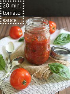 20 minute tomato sauce